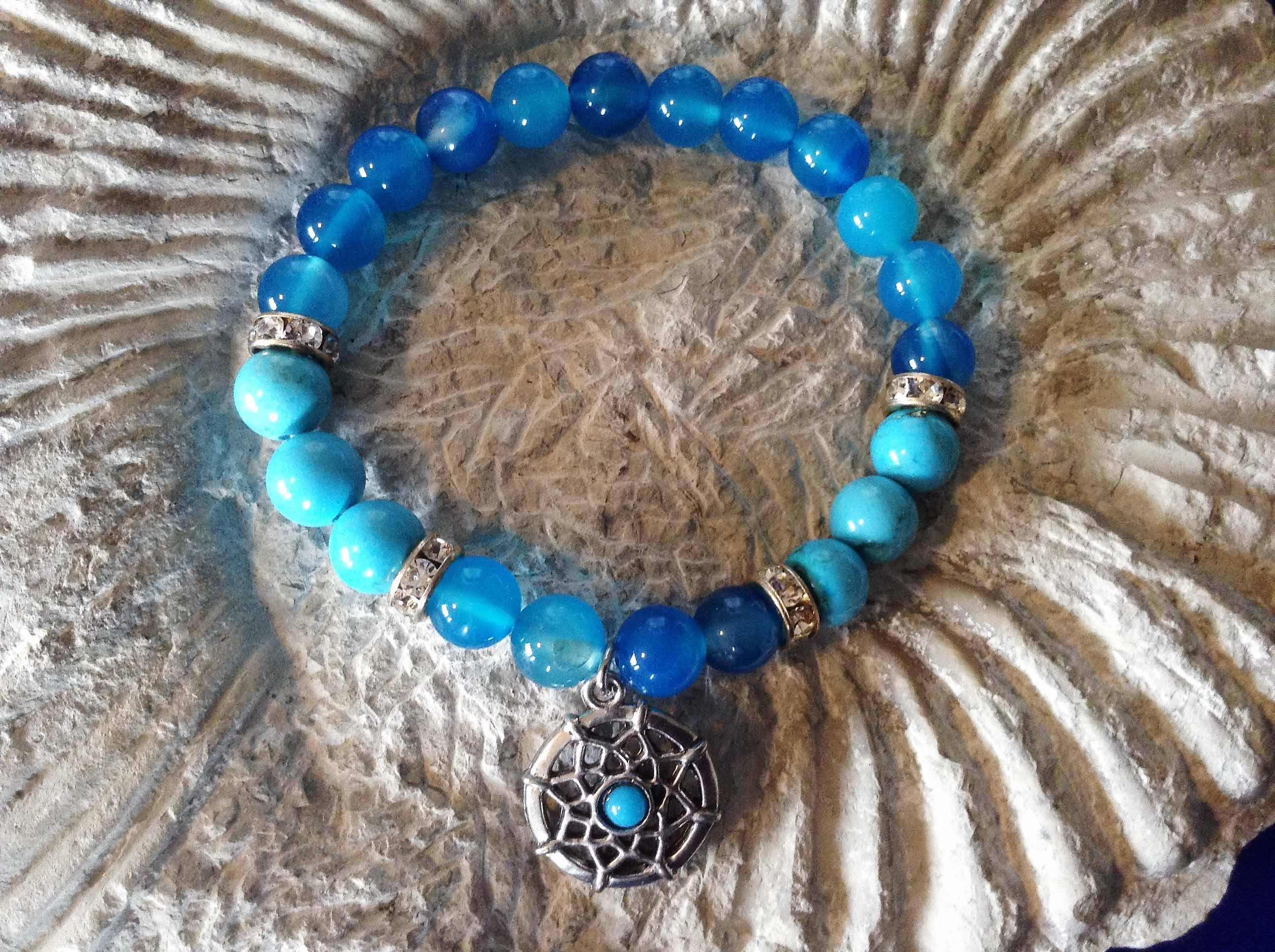 Blue onyx and turquoise bracelet