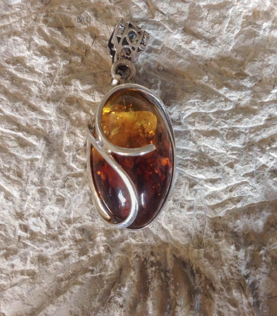 Amber Egg Pendant