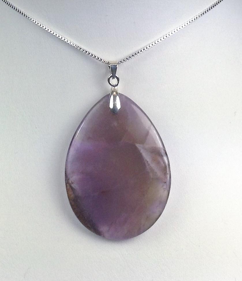 Auralite tear drop pendant for necklace