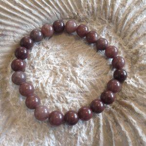 Purple aventurine round bead bracelet