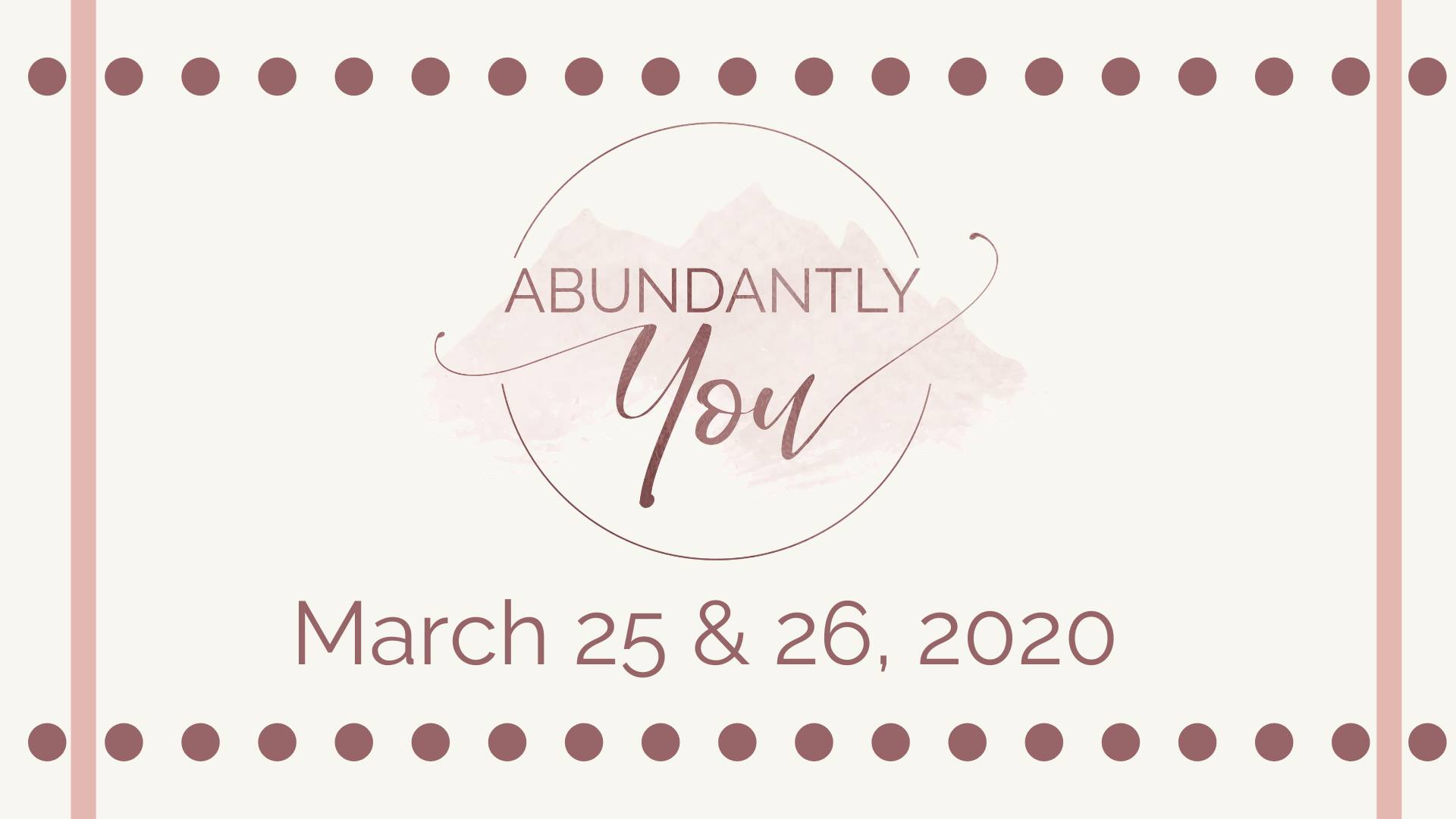 abundantly you conference