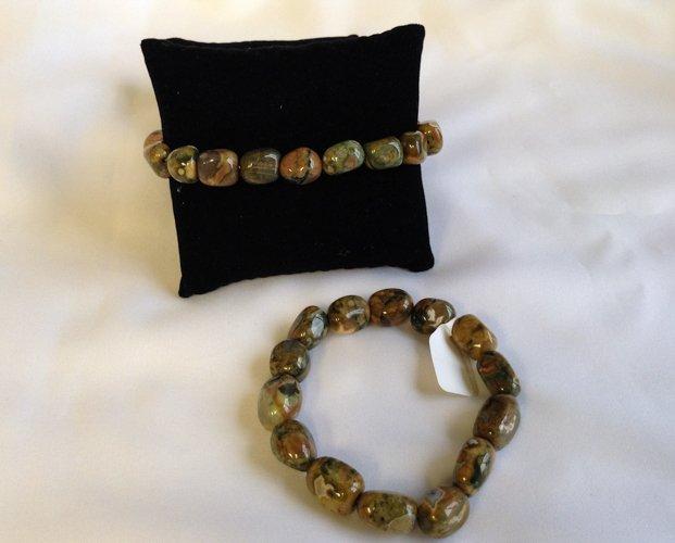 two Rhyolite bracelets